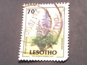 Lesotho 1998, Flowers used .70s 1.00 SG 1525
