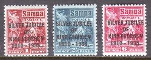 Samoa - Scott #163-165 - MH - SCV $4.40