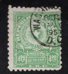 Paraguay Scott 503A Used map stamp
