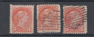 Varieties, blobs on neck of 3c Small Queens Constant?? Canada used