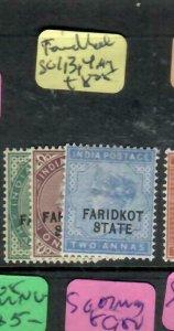 INDIA FARIDKOT  (PP0305B)  QV  1/2A,1A,2A  SG 1,3,4    MOG