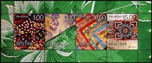 HERRICKSTAMP NEW ISSUES CROATIA Sc.# 1079a Ethnographic Heritage S/S