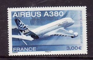 France-Sc#C68- id2-Unused NH Airmail set-Planes-Airbus A380-2006-