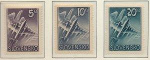 Slovakia Stamps Scott #C7 To C9, Mint Hinged - Free U.S. Shipping, Free World...