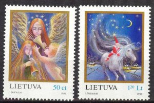 Lithuania 1996 Christmas set of 2 MNH