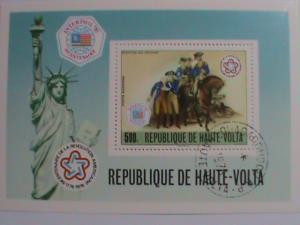 1976 UPPER VOLTA- AMERICAN REVOLUTION SOUVENIR SHEET