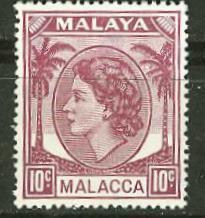 Malaya-Malacca # 35 Queen Elizabeth, 10c   (1)  Mint NH