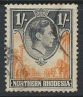 Northern Rhodesia  SG 40  SC# 40 Used  see detail and scan