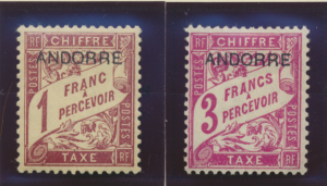 Andorra (French) Stamps Scott #J3 To J7, Mint, Hinge Remnants, Short Set - Fr...