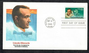 2389 Lincoln Ellsworth Explorer Unaddressed Fleetwood FDC