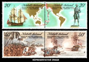 Norfolk Islands Scott 243a, 245a Mint never hinged.