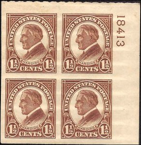 631 Mint,OG,NH... Plate Block of 4... SCV $75.00... Superb