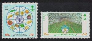 Saudi Arabia World Food Day 2v 1994 MNH SC#1212-1213 SG#1880-1881 MI#1201-1202