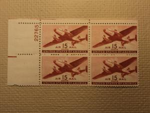 USPS Scott C28 15c Air Mail Transport Plane 1941 Mint NH ...