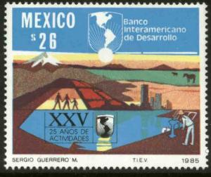MEXICO 1409, Interamerican Development Bank 25th Anniv. MINT, NH. VF.