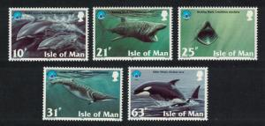 Isle of Man Dolphins Sharks Whales Fish Marine Life Year of the Ocean 5v