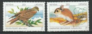 Ukraine 2001 Birds Fauna Animals 2 MNH stamps
