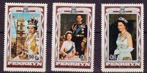 Penrhyn Islands MNH 87-9 Silver Jubilee QE II