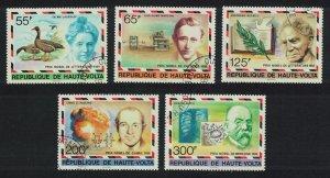 Upper Volta Nobel Prize Winners 5v CTO 1977 CTO SG#452-456