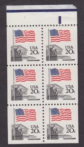 1896a MNH Flag over Supreme Court booklet pane
