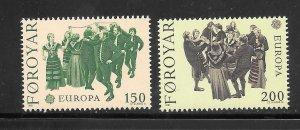 Faroe Islands #63-64 MNH Set of 2 Singles (my2)