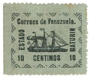 (I.B) Venezuela Local Post : Maturin State 10c
