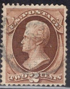 US Stamp Scott #135 Used H Grill SCV $75