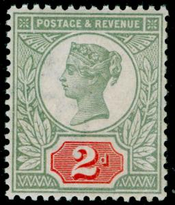 SG199, 2d green & scarlet, NH MINT. Cat £550.