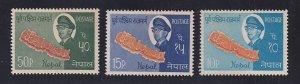 Nepal  #170-172  MNH  1964  king and highway