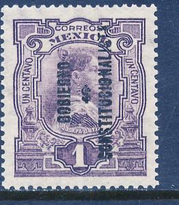 MEXICO 423, 1¢ REVOLUT OVPT GOBIERNO $ CONSTITUC..MINT, NH. F-VF.
