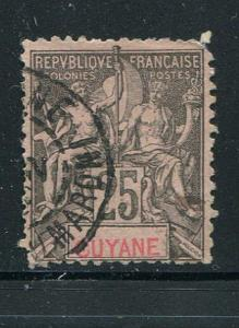 French Guiana #42 Used