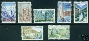 FRANCE Scott 1124-30 MNH** Tourism Stamp Set CV $7.15