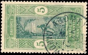DAHOMEY - 1915 - CAD DOUBLE CERCLE ABOMEY / DAHOMEY & DEPces SUR N°46
