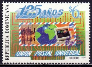 Dominican Republic. 1999. 1984. post office. MNH.