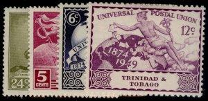 TRINIDAD & TOBAGO GVI SG261-264, anniversary of UPU set, M MINT.