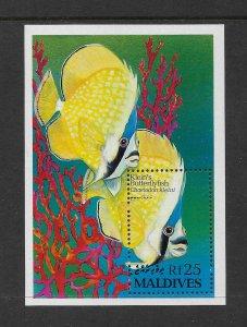 FISH - MALDIVES #1869A  KLEIN'S BUTTERFLYFISH  MNH