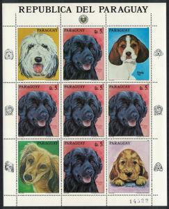 Paraguay Dog Labrador Retriever Sheetlet of 5v + labels SC#2182