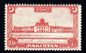 PAKISTAN - 1949-53 - SG 50   10 anna  - p14 - mnh um  crease -  cv £30