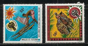 Wallis and Futuna Islands 229-30 1979 Child Year set MNH