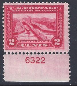 U.S. 398 F+ NH Plate Sgl. (120717a)
