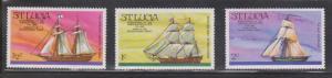 ST LUCIA Scott # 379-81 MNH - American Bicentennial & Ships