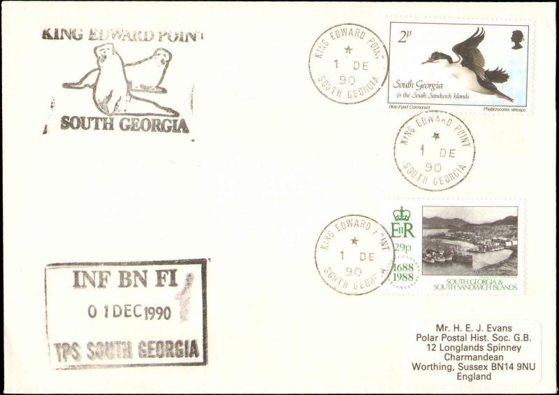 1990 SOUTH GEORGIA ANTARCTIC CACHETS