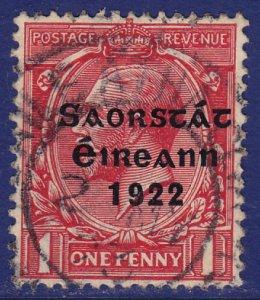 Ireland - 1922 - Scott #45 - used - Overprint