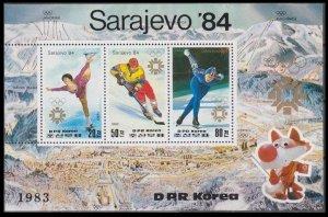 1983 Korea North 2391-93/B150 1984 Olympic Games in Sarajevo 17,00 €
