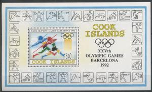 1992 Cook Islands 1360/B204 1992 Olympic Games in Barcelona 20,00 €