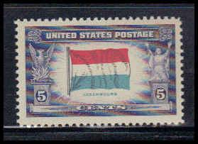 912 5c Flag of Luxembourg Fine MNH W3819