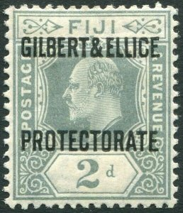 GILBERT & ELLICE ISLANDS-1911 2d Grey Sg 3 MOUNTED MINT V34654