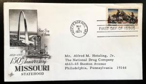 1426 Missouri 150th, 1st Day Cover, Art Craft Cachet, Vic's Stamp Stash