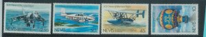 78434a - NEVIS - STAMPS: AIRPLANES balloon  4 values MNH - Overprinted SPECIMEN
