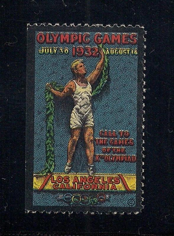 Olympic Games Label - Los Angeles, CA 1932 - O.G.